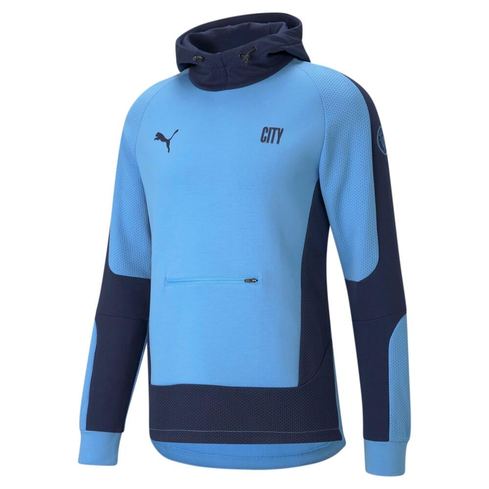 Imagen PUMA Polerón de fútbol con capucha para hombre Manchester City Evostripe #1
