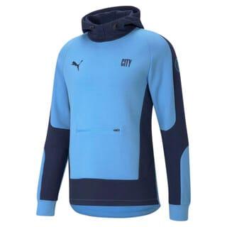 Imagen PUMA Polerón de fútbol con capucha para hombre Manchester City Evostripe