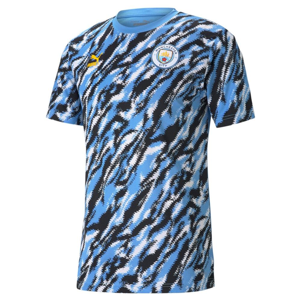 Изображение Puma Футболка Man City Iconic MCS Graphic Men's Football Tee #1: Black-Team Light Blue-White
