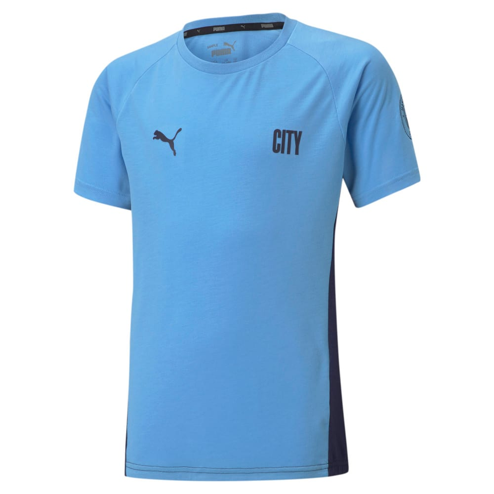 Изображение Puma Детская футболка Man City Evostripe Youth Football Tee #1
