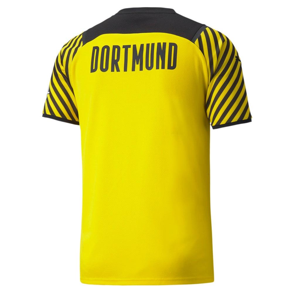 Изображение Puma Футболка BVB Home Replica Men's Jersey #2: Cyber Yellow-Puma Black