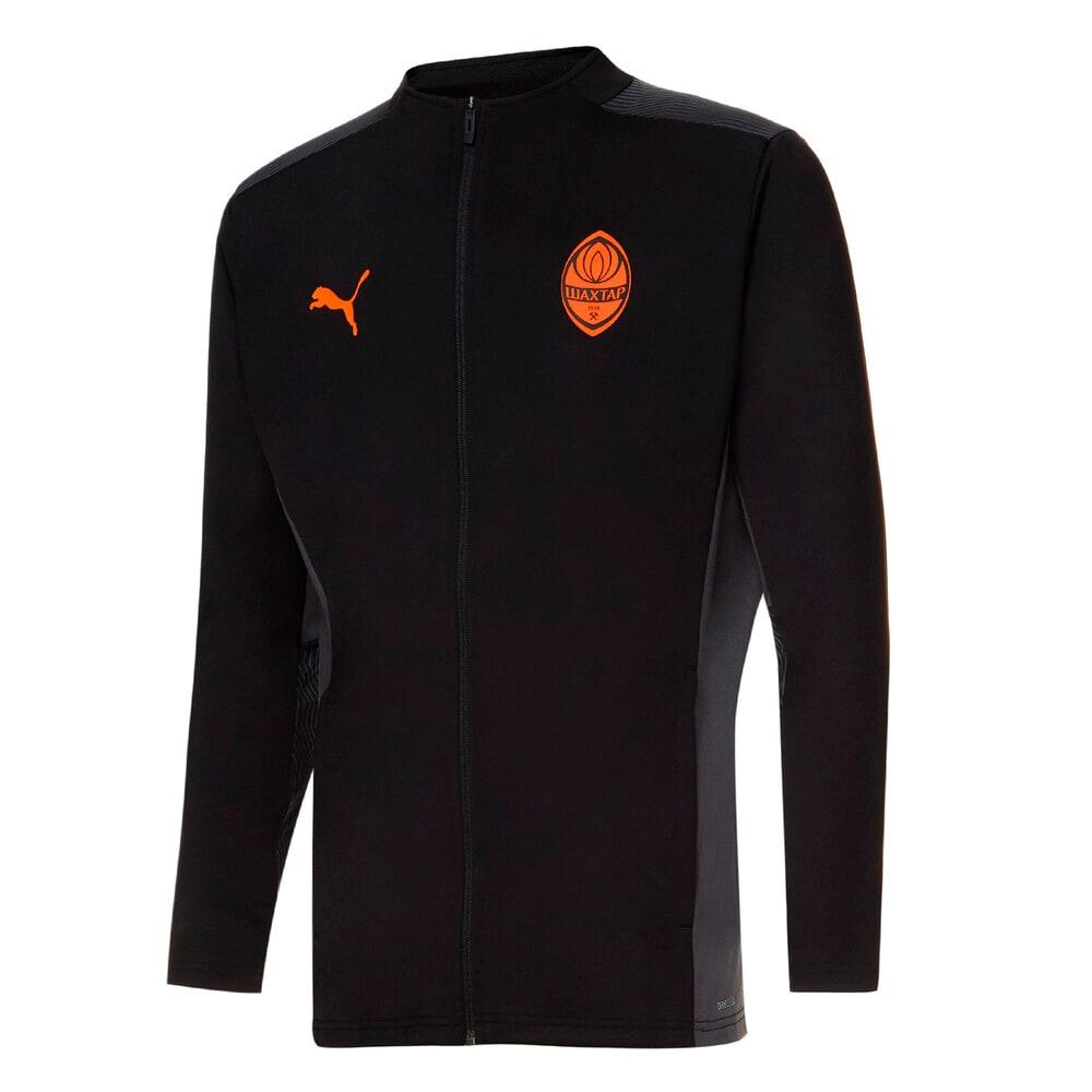 Изображение Puma Куртка FCSD Training Men's Football Jacket #1: Puma Black-GOLDEN POPPY