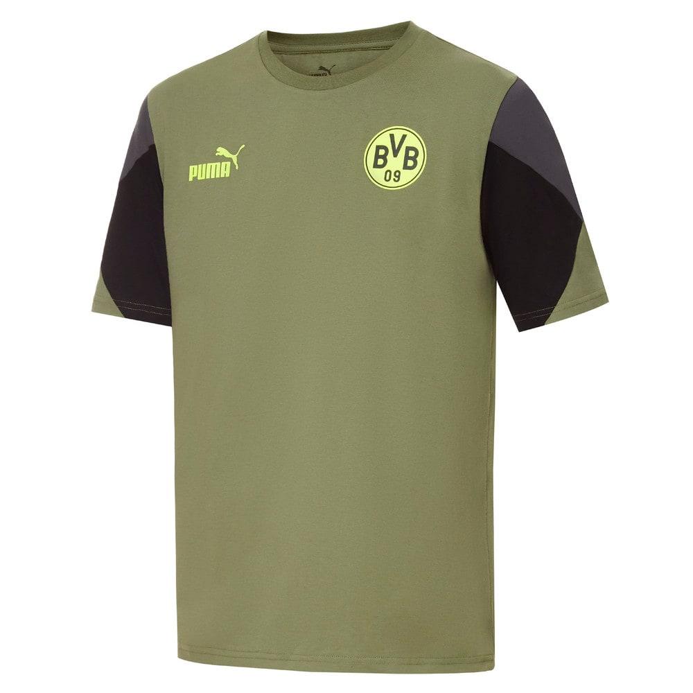 Зображення Puma Футболка BVB FtblCulture Men's Football Tee #1: Olivine-Safety Yellow