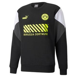 Imagen PUMA Polerón de fútbol de cuello redondo para hombre BVB FtblCulture