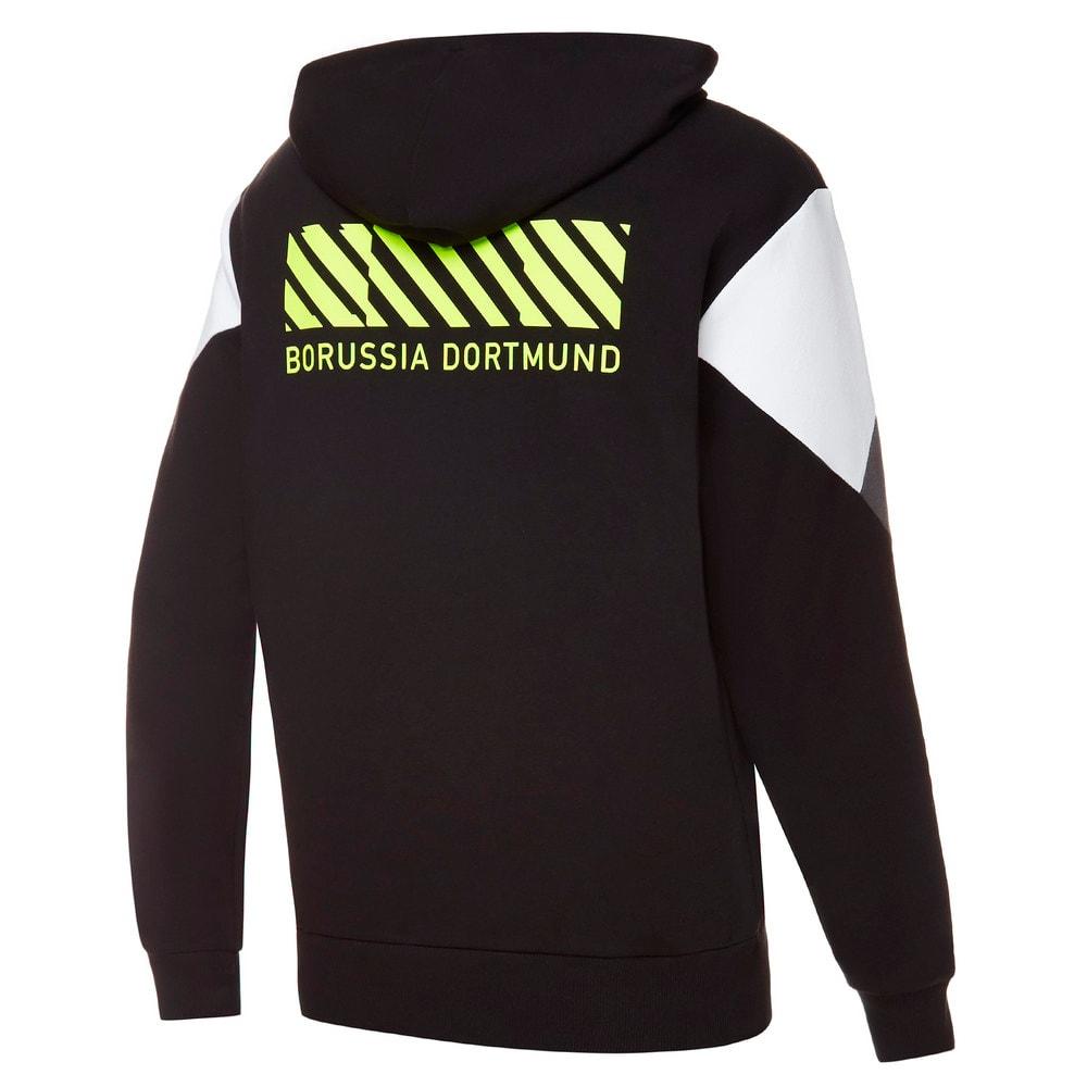 Зображення Puma Толстовка BVB FtblCulture Full-Zip Men's Football Hoodie #2: Puma Black-Safety Yellow