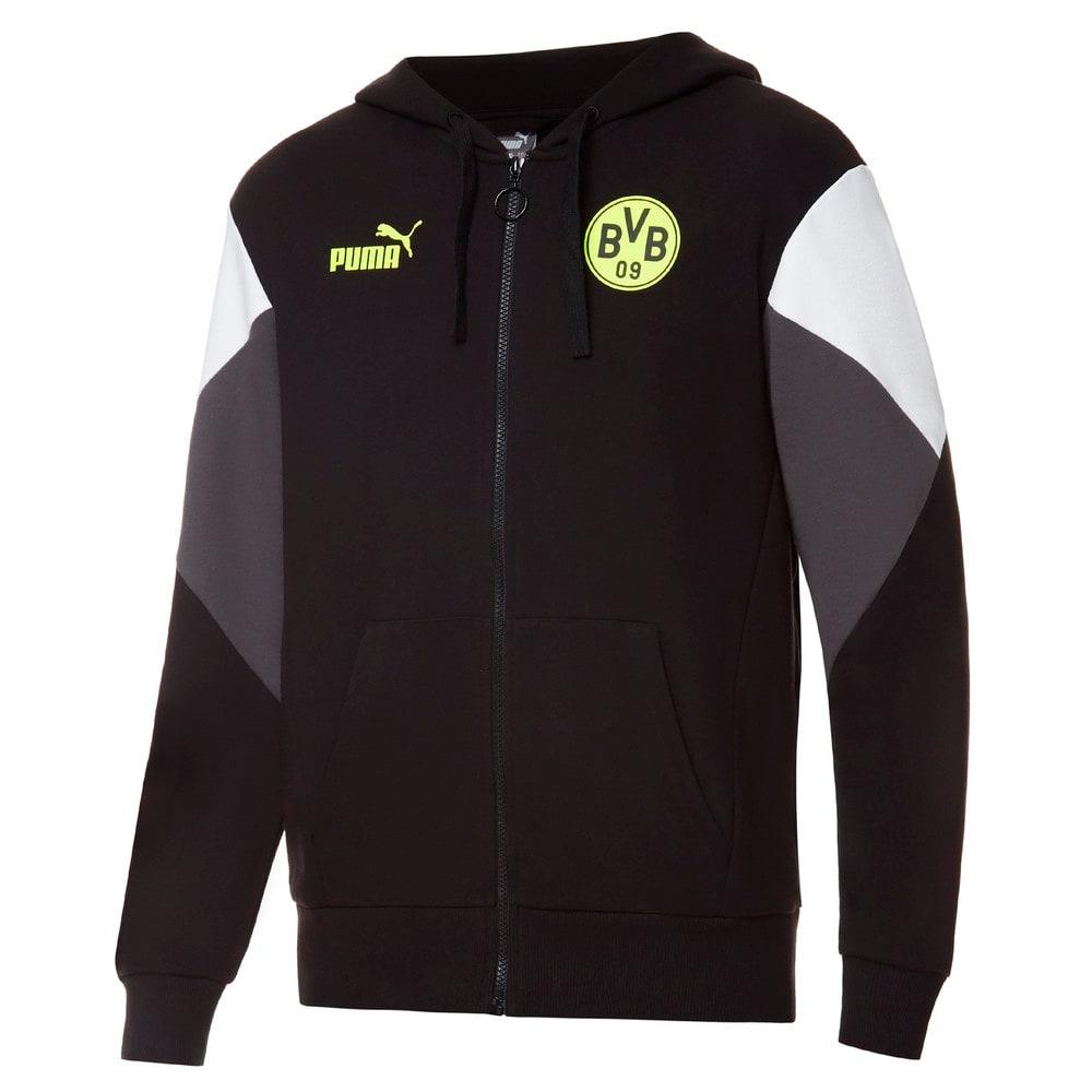 Зображення Puma Толстовка BVB FtblCulture Full-Zip Men's Football Hoodie #1: Puma Black-Safety Yellow