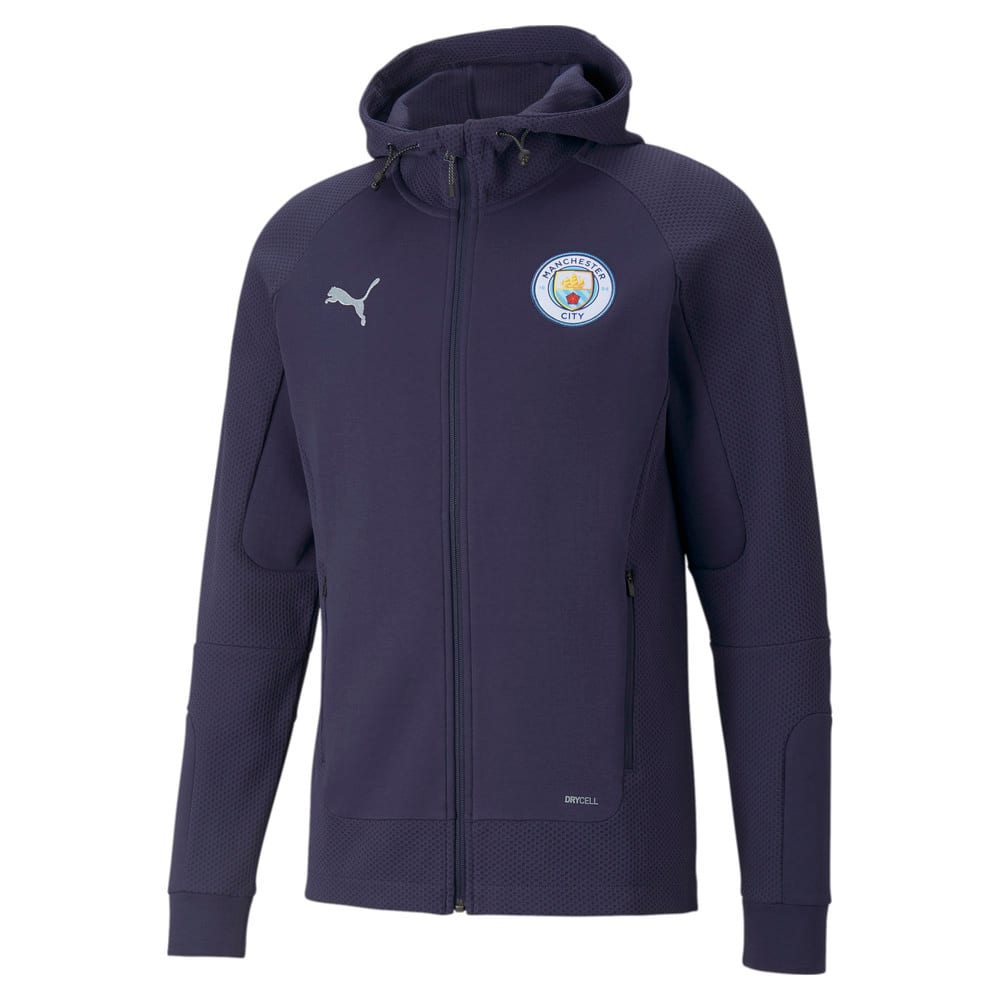 Imagen PUMA Chaqueta de fútbol con capucha para hombre Manchester City Casual #1