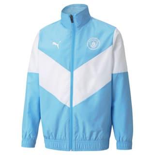 Image Puma PUMA x FIRST MILE Man City Prematch Youth Football Jacket