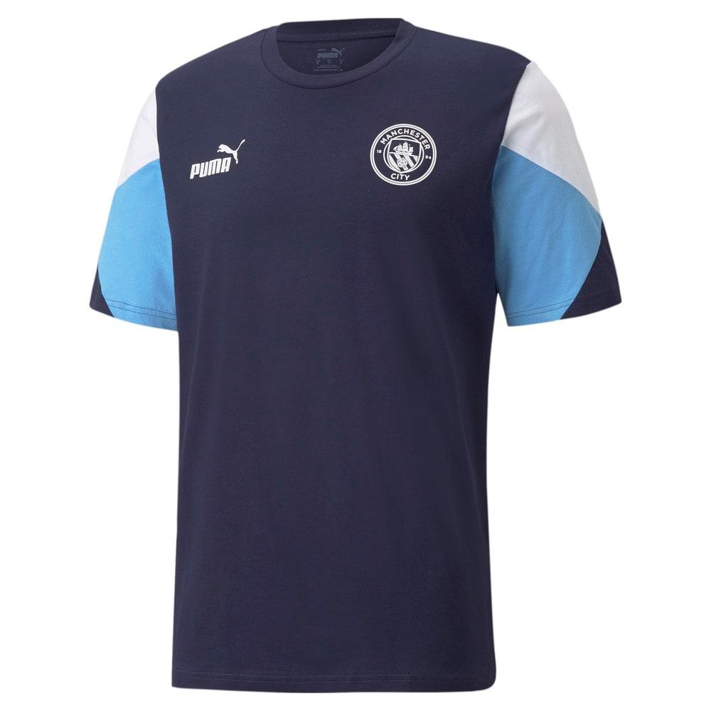 Зображення Puma Футболка Man City FtblCulture Men's Football Tee #1: Peacoat-Puma White
