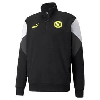 Изображение Puma Толстовка BVB FtblCulture Half-Zip Men's Football Sweater
