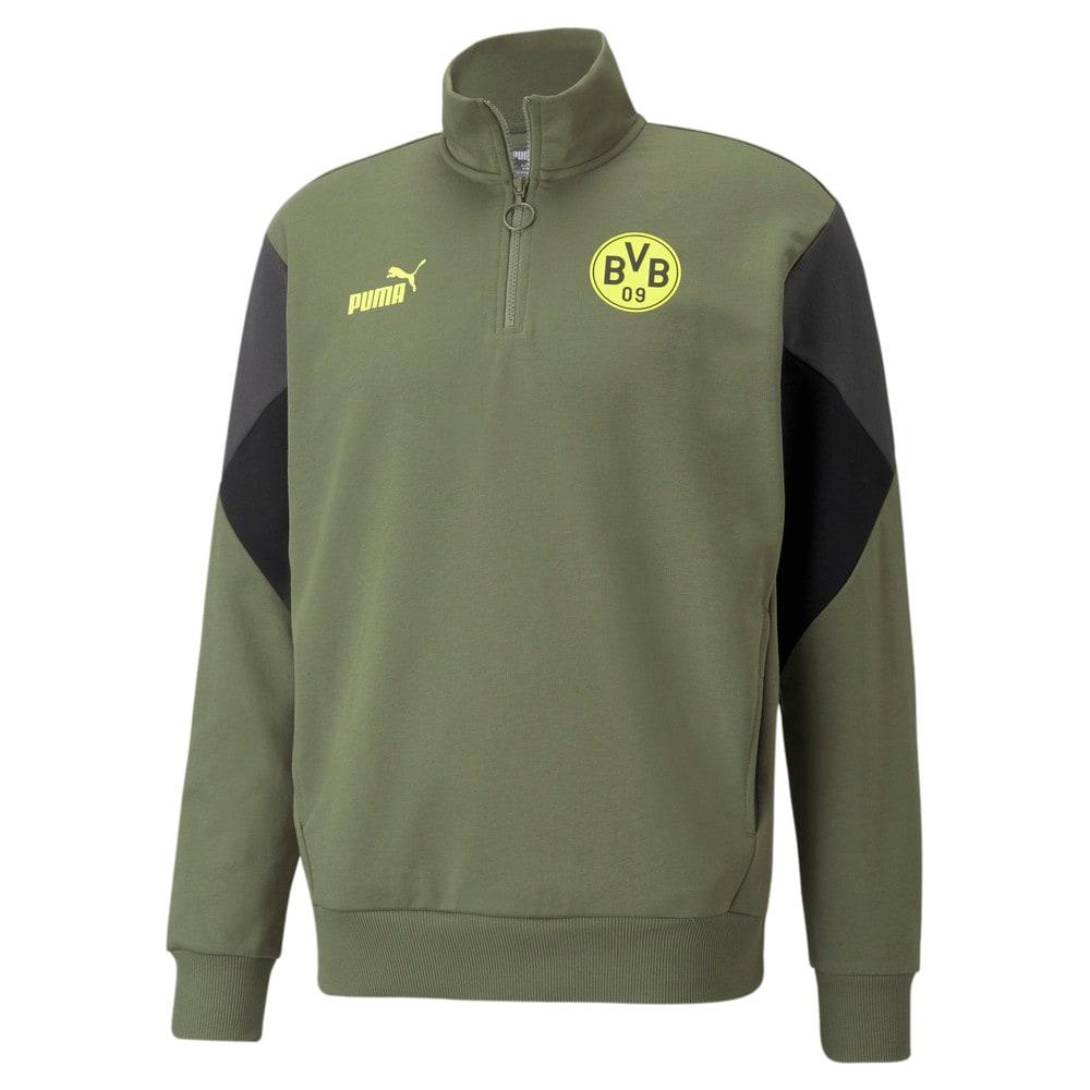 Изображение Puma Толстовка BVB FtblCulture Half-Zip Men's Football Sweater #1