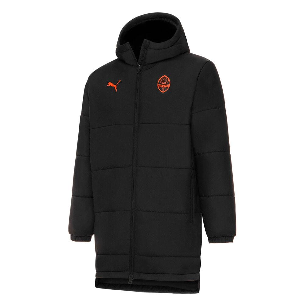 Изображение Puma Куртка FCSD Bench Men's Football Jacket #1: Puma Black-GOLDEN POPPY