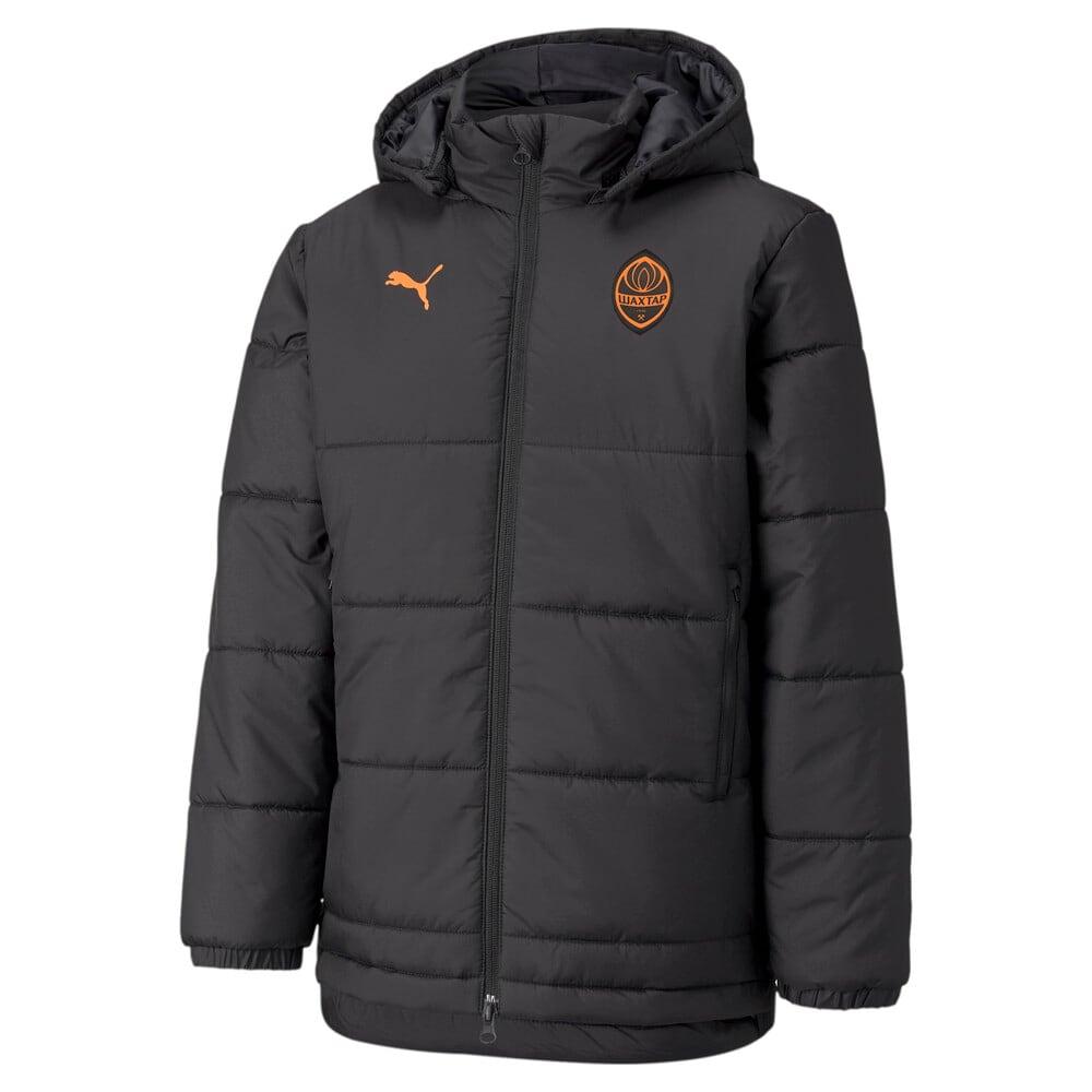 Зображення Puma Куртка FCSD Bench Youth Football Jacket #1: Puma Black-GOLDEN POPPY