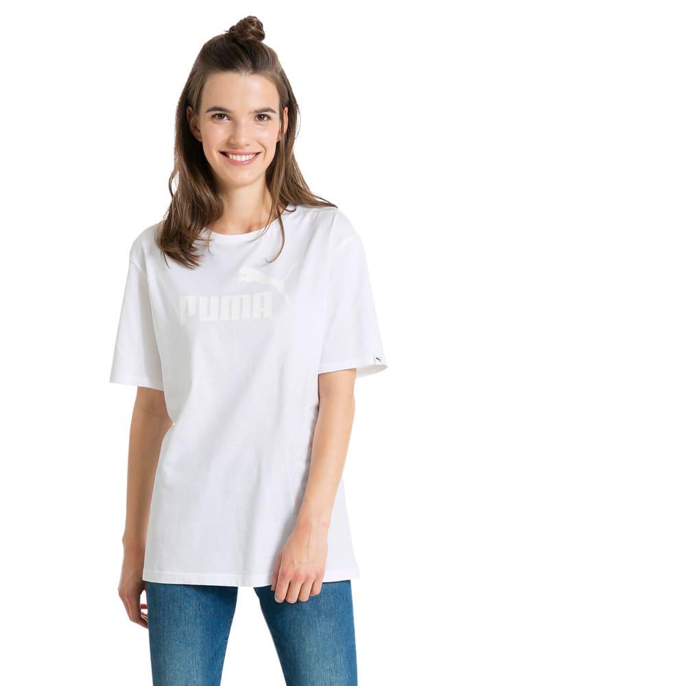 Görüntü Puma STYLE No.1 Logo Kadın BOYFRIEND T-Shirt #2