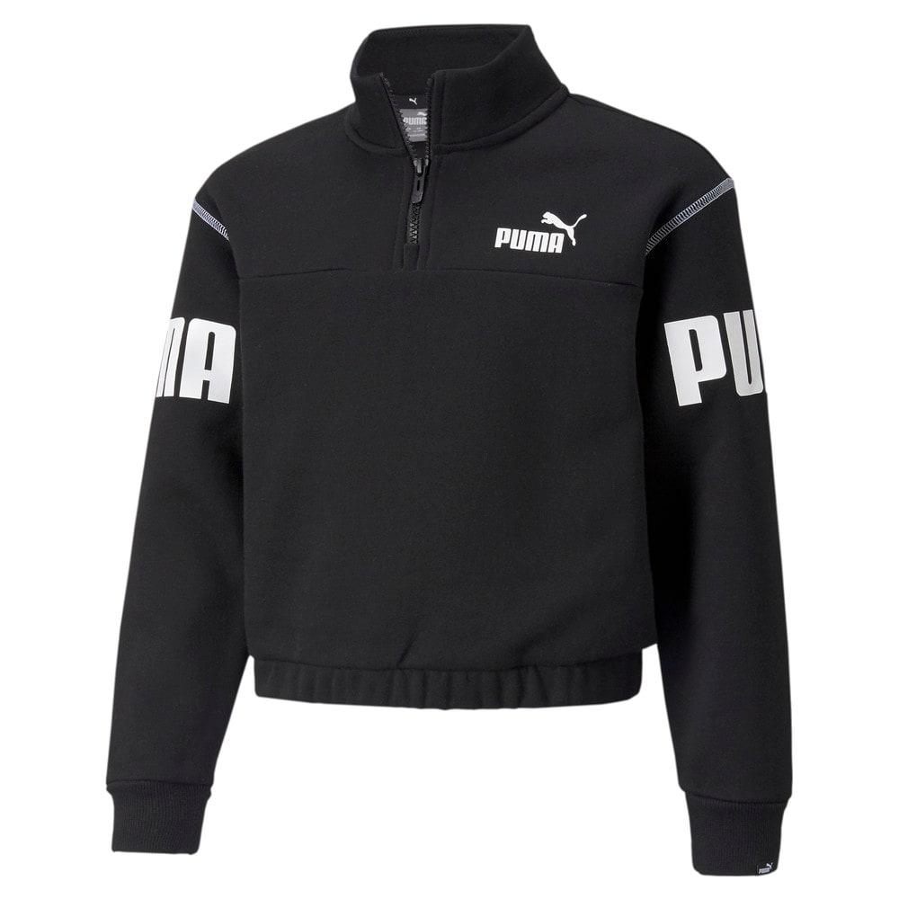 Зображення Puma Дитяча толстовка Power Quarter-Zip Youth Sweatshirt #1: Puma Black