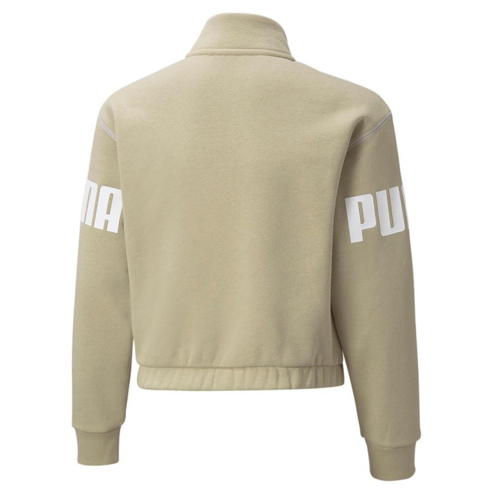 Изображение Puma Детская толстовка Power Quarter-Zip Youth Sweatshirt #2