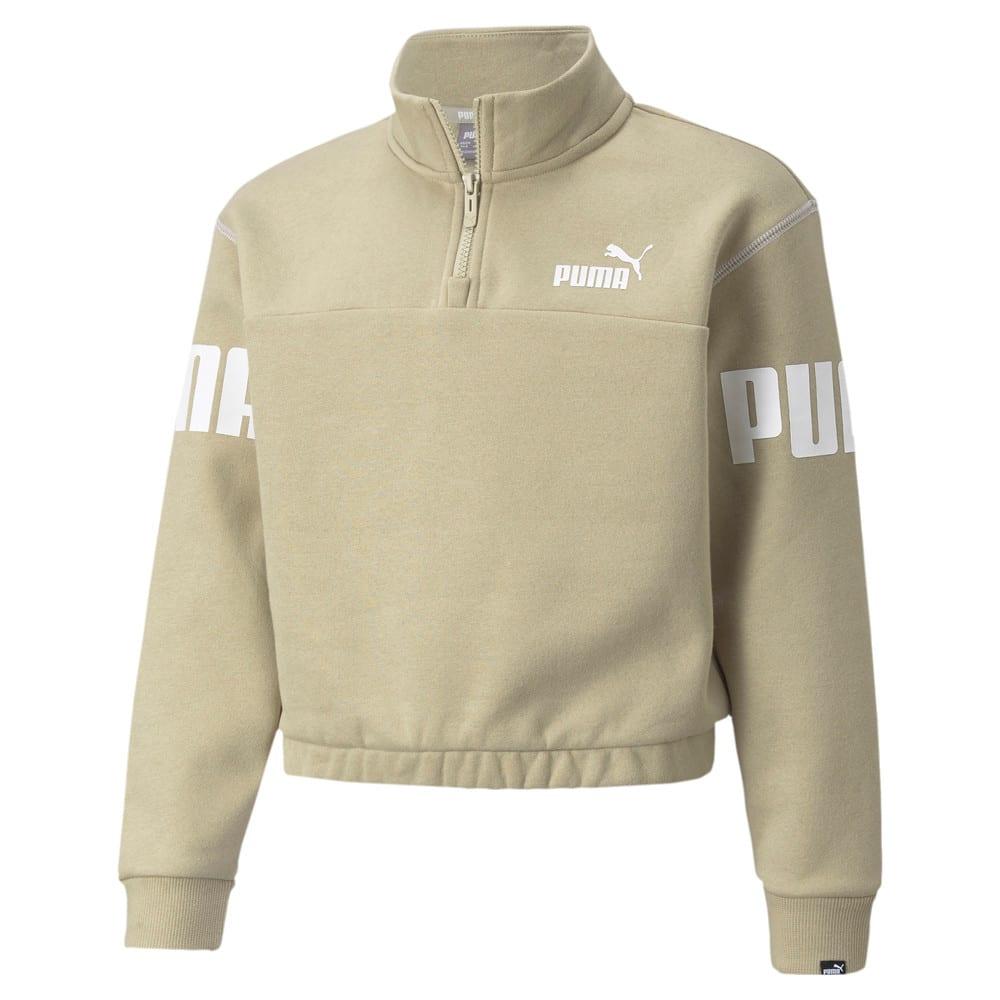 Изображение Puma Детская толстовка Power Quarter-Zip Youth Sweatshirt #1