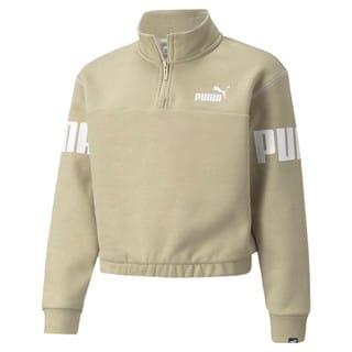 Изображение Puma Детская толстовка Power Quarter-Zip Youth Sweatshirt