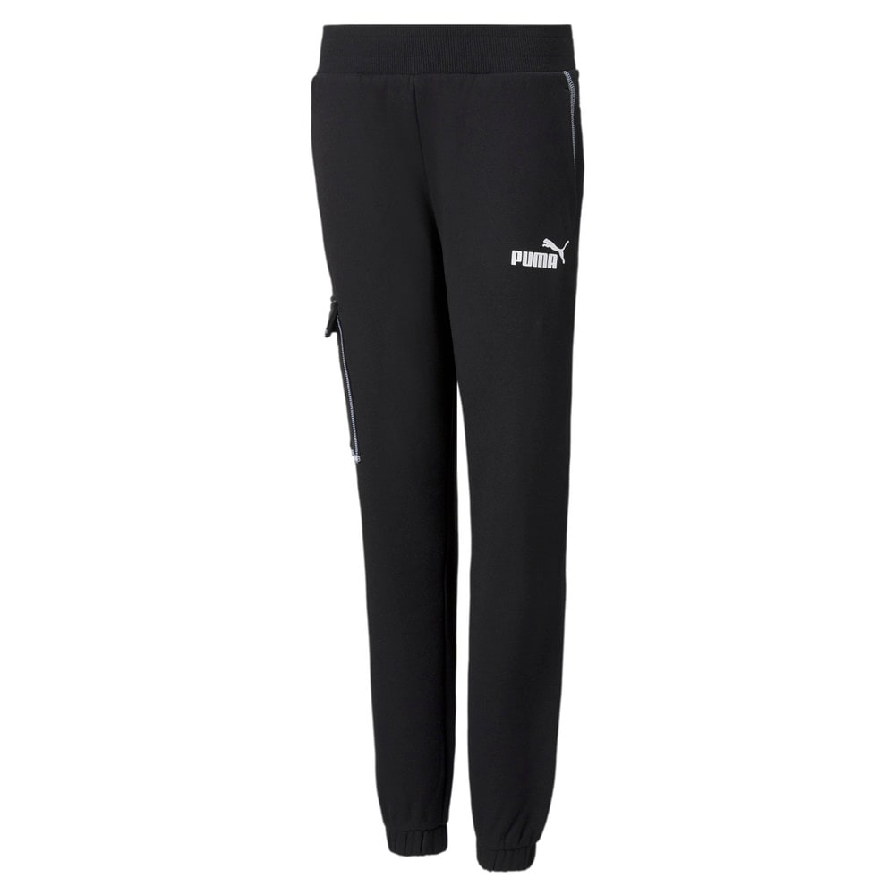 Зображення Puma Дитячі штани Power Youth Cargo Sweatpants #1: Puma Black