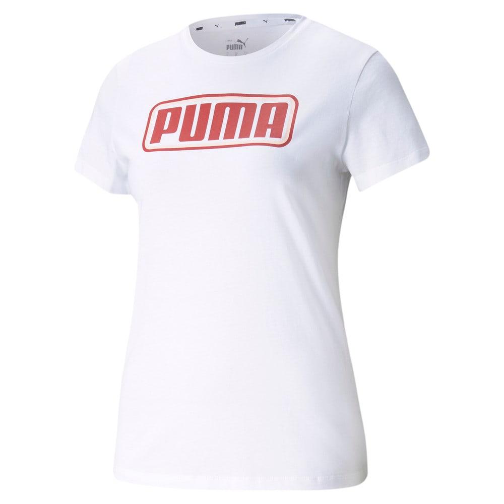 Зображення Puma Футболка Summer Stripes Graphic Women's Tee #1: Puma White