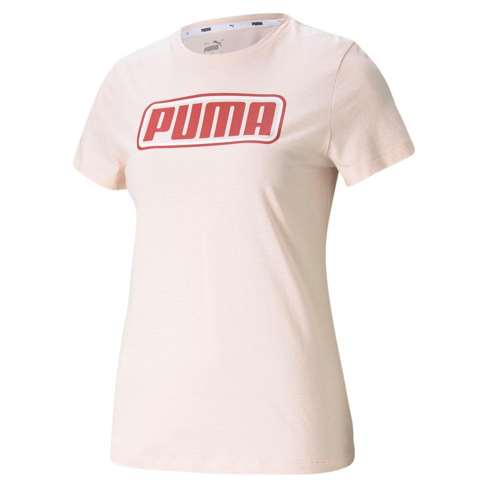 Изображение Puma Футболка Summer Stripes Graphic Women's Tee #1: Cloud Pink