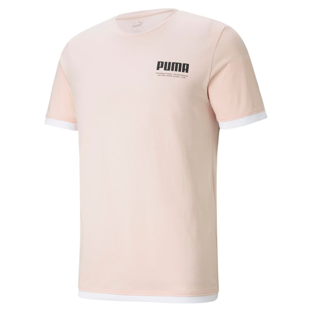 Изображение Puma Футболка SUMMER COURT Men's Elevated Tee #1: Cloud Pink