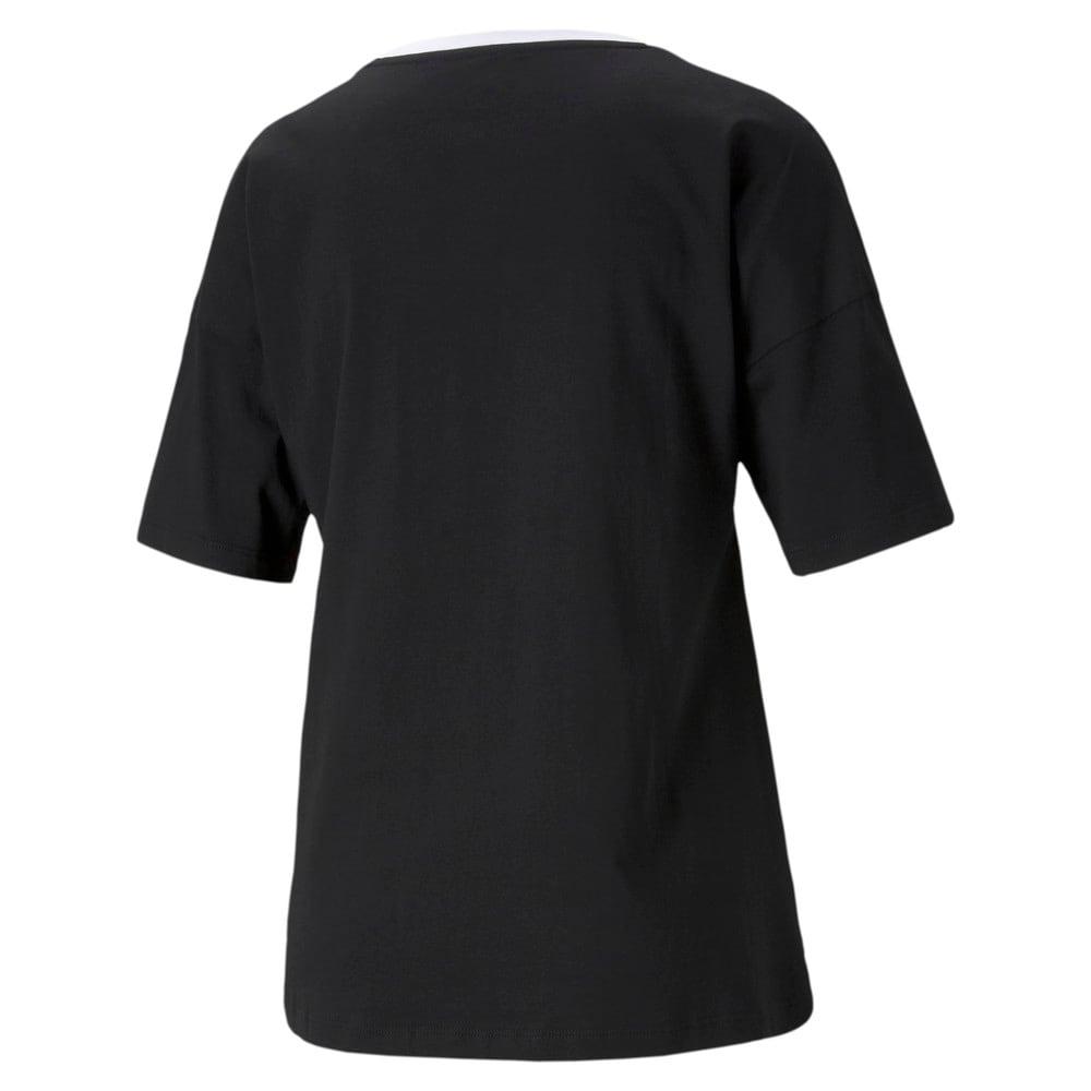 Изображение Puma Футболка SUMMER STRIPES Fashion Tee #2: Puma Black