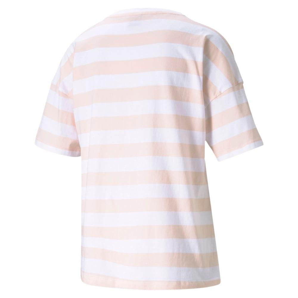 Изображение Puma Футболка Summer Stripes Printed Women's Tee #2: Cloud Pink