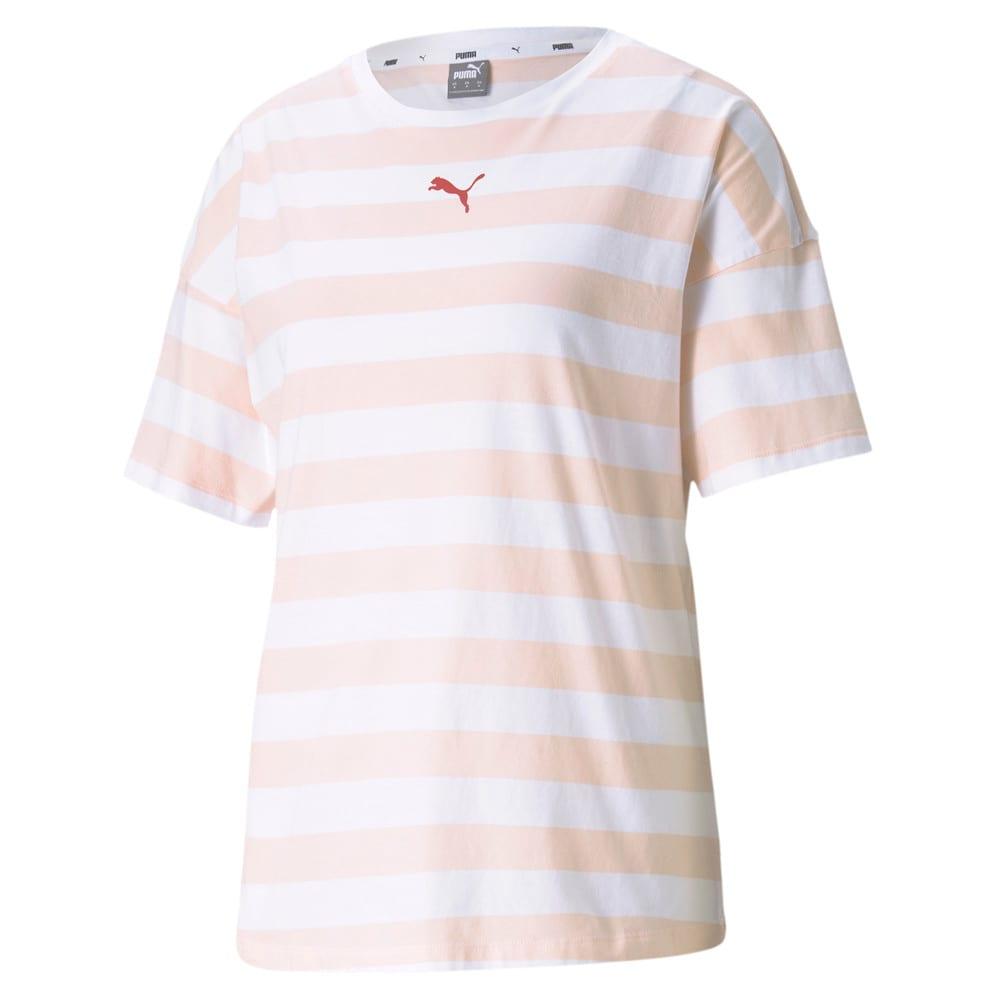 Изображение Puma Футболка Summer Stripes Printed Women's Tee #1: Cloud Pink