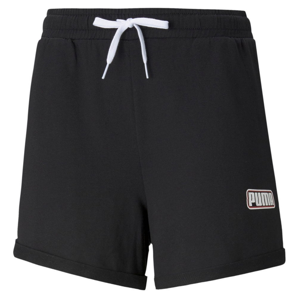 Изображение Puma Шорты SUMMER STRIPES Sweat Shorts #1: Puma Black