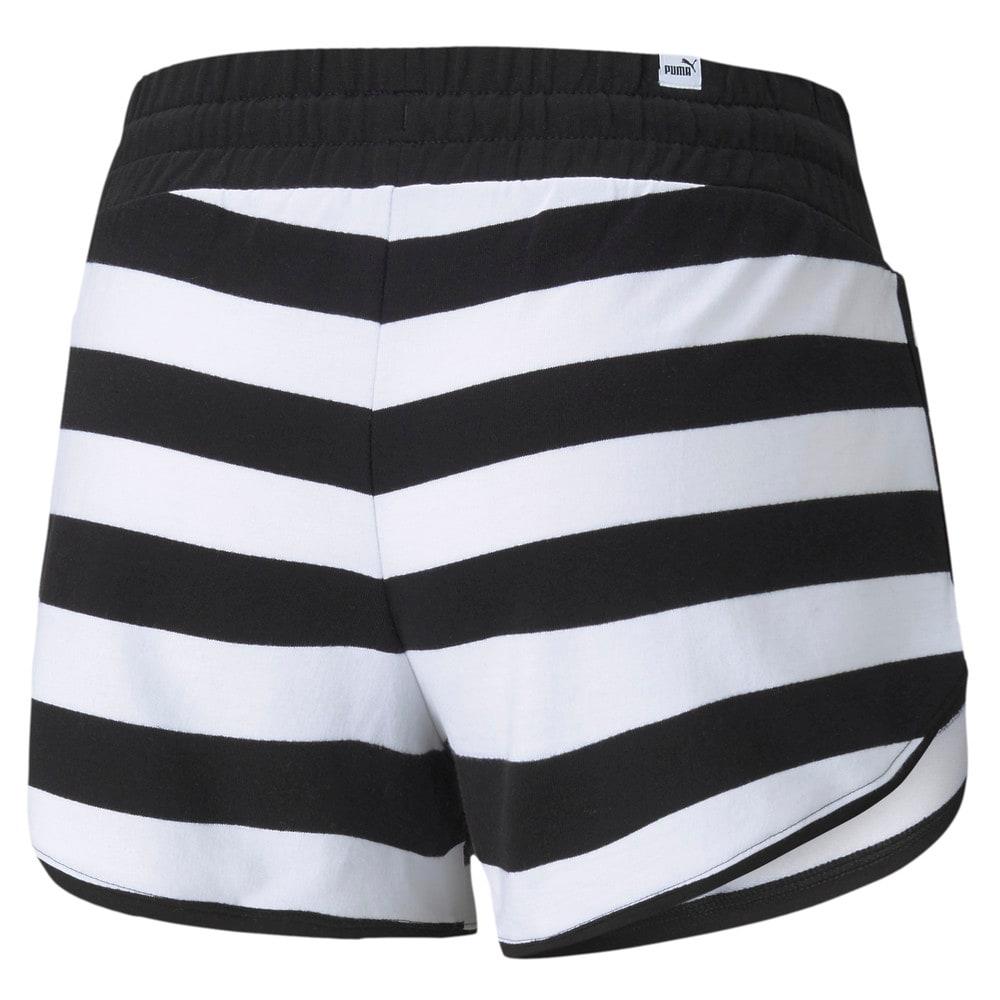 Изображение Puma Шорты Summer Stripes Printed Women's Shorts #2: Puma Black
