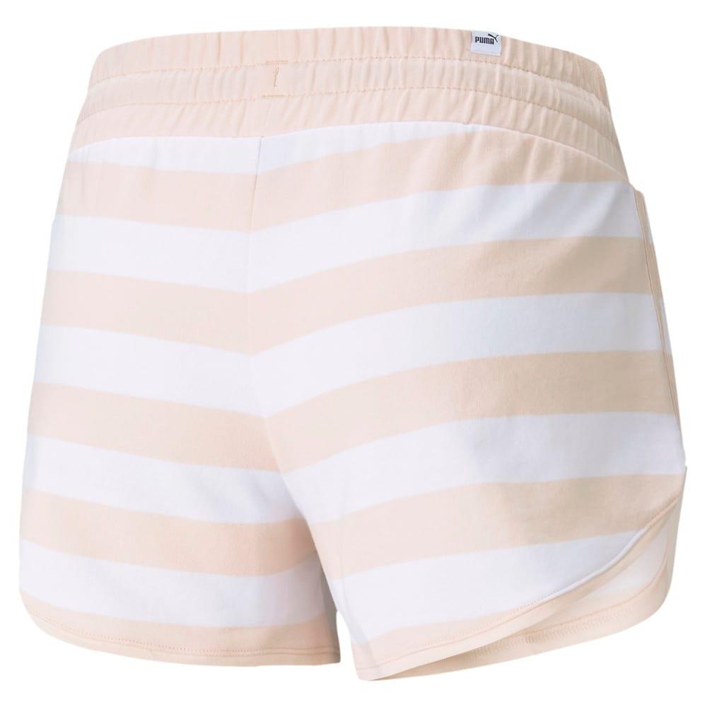 Изображение Puma Шорты Summer Stripes Printed Women's Shorts #2: Cloud Pink