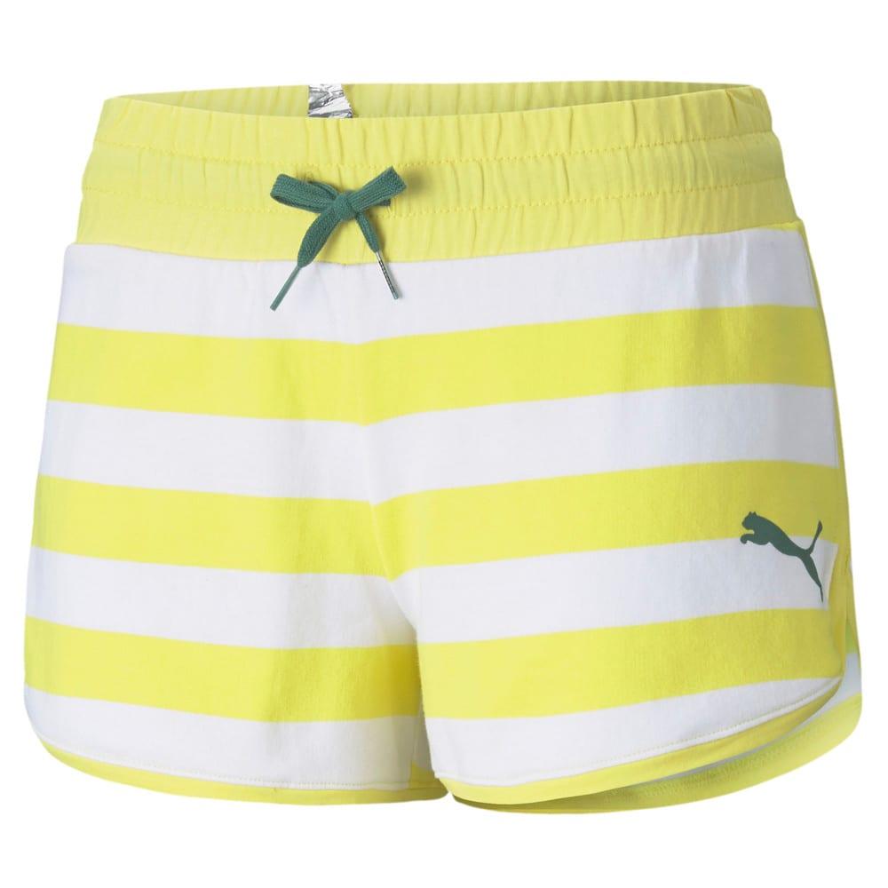 Зображення Puma Шорти Summer Stripes Printed Women's Shorts #1: Celandine