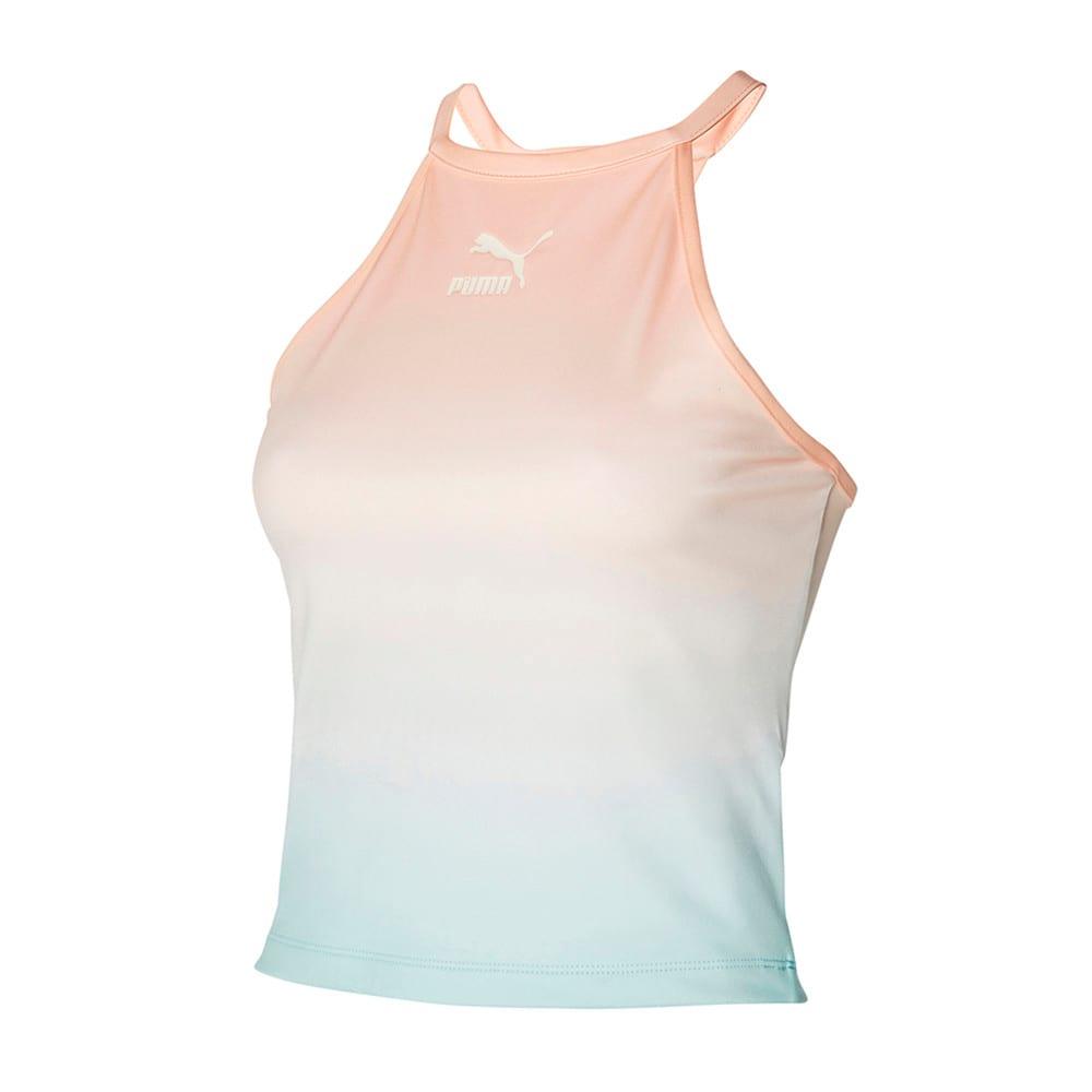Зображення Puma Топ Gloaming Printed Women's Bra Top #1: Eggshell Blue-Gloaming
