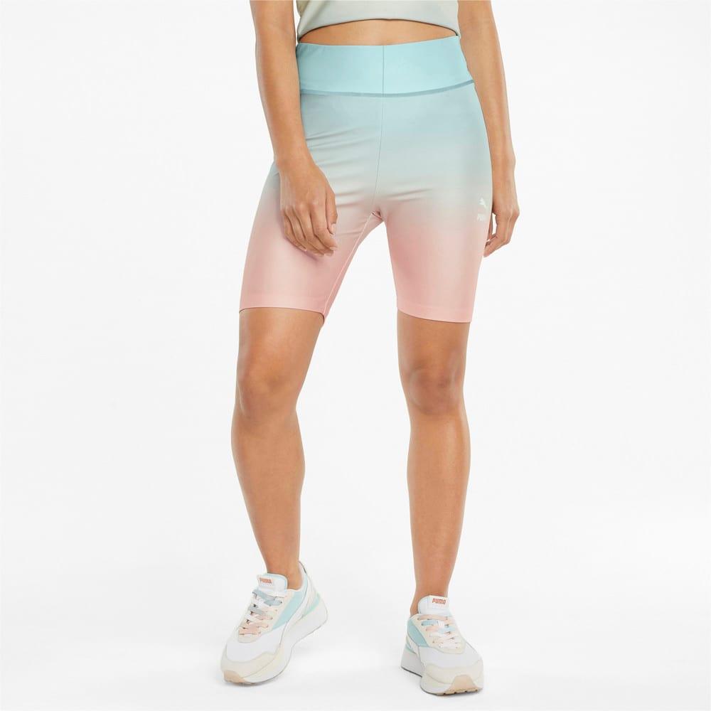 Изображение Puma Шорты Gloaming Printed Short Women's Tights #1: Eggshell Blue-Gloaming