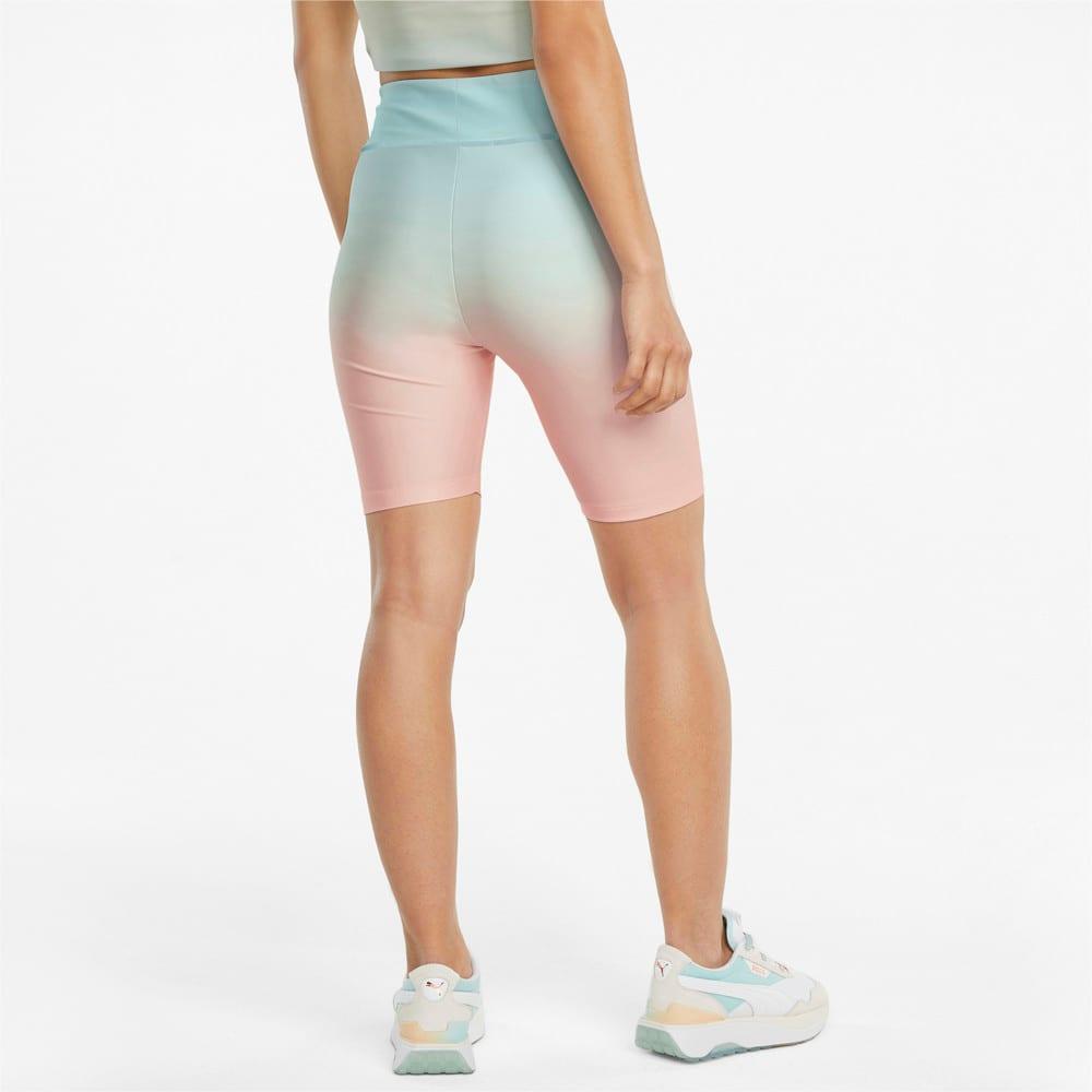 Изображение Puma Шорты Gloaming Printed Short Women's Tights #2: Eggshell Blue-Gloaming