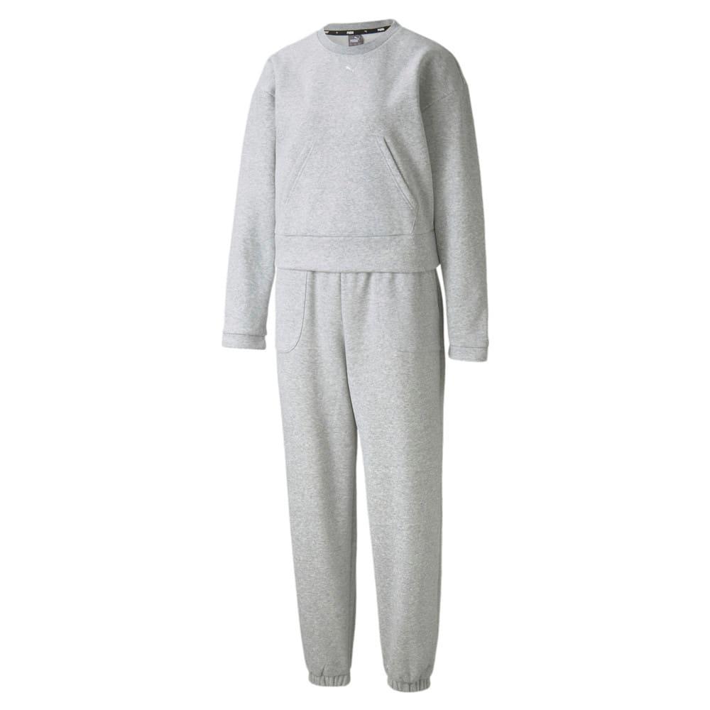Изображение Puma Спортивный костюм Loungewear Women's Tracksuit #1: light gray heather