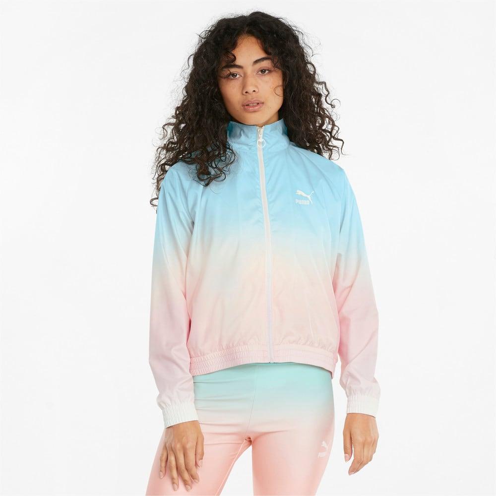 Зображення Puma Куртка Gloaming Printed Full-Zip Women's Jacket #1: Eggshell Blue-Gloaming