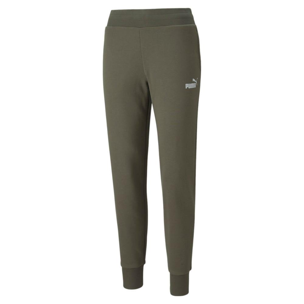 Изображение Puma Штаны Essentials+ Metallic Fleece Women's Pants #1: Grape Leaf-Silver
