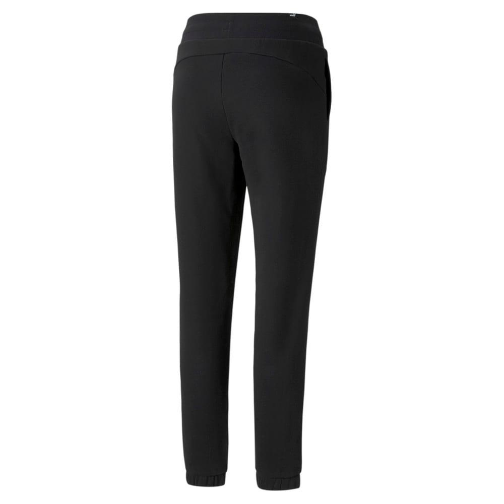 Изображение Puma Штаны Essentials+ Embroidered Fleece Women's Pants #2: Puma Black