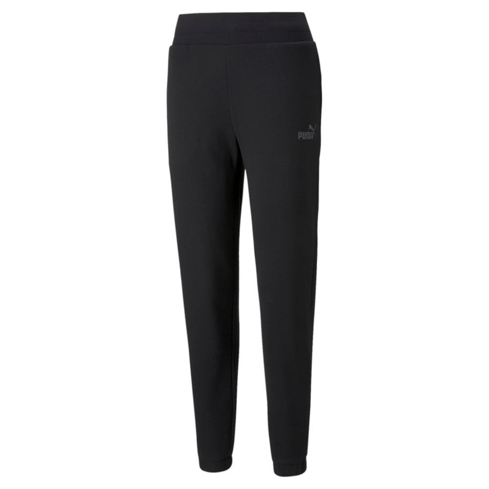 Изображение Puma Штаны Essentials+ Embroidered Fleece Women's Pants #1: Puma Black
