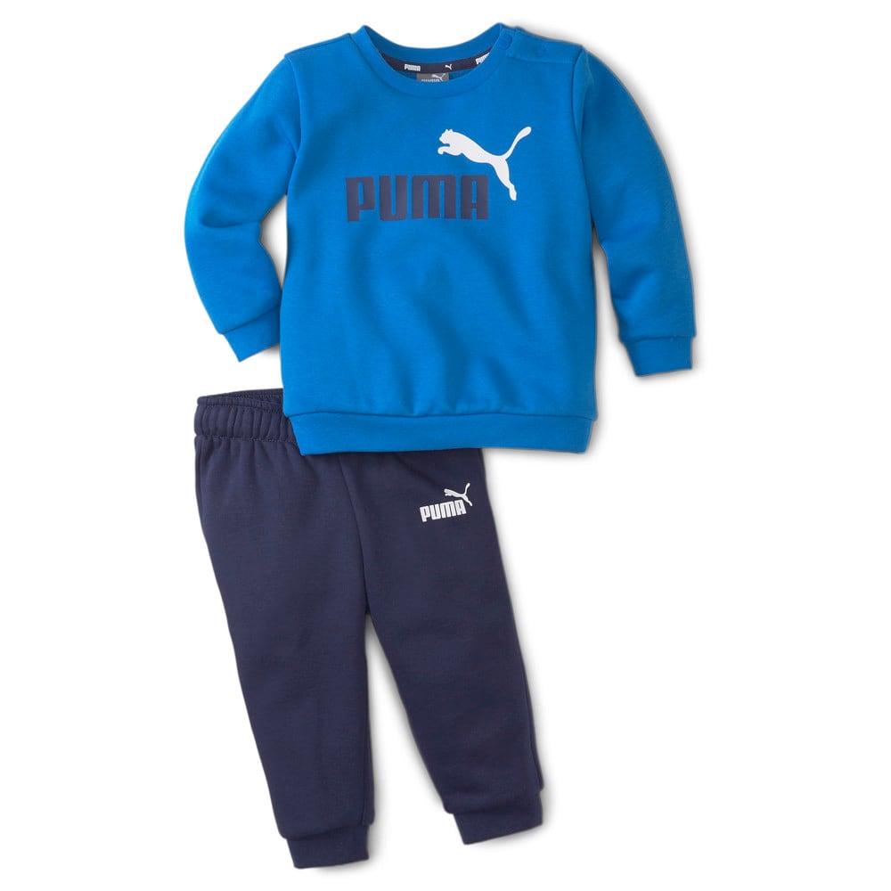 Изображение Puma Детский комплект Essentials Minicats Crew Neck Babies' Jogger Suit #1: Peacoat