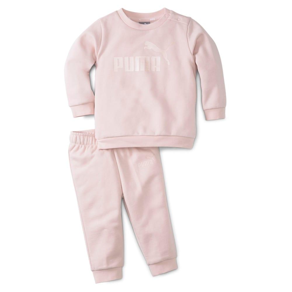 Изображение Puma Детский комплект Essentials Minicats Crew Neck Babies' Jogger Suit #1: Lotus