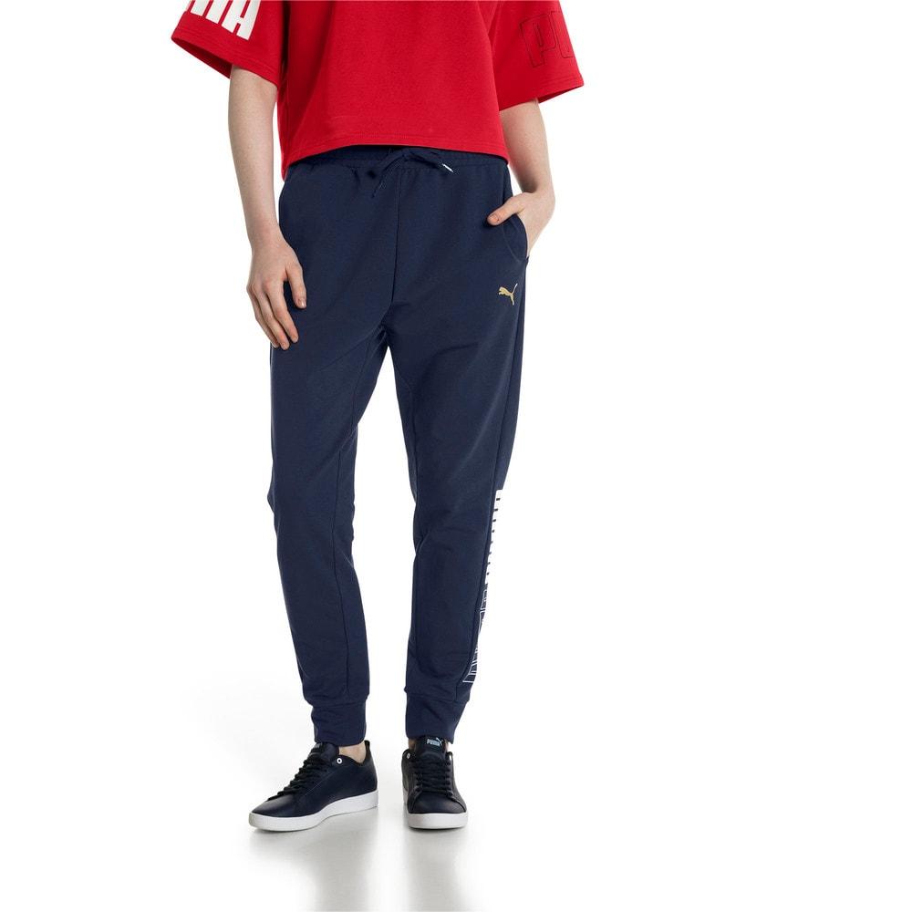 Imagen PUMA Pantalones deportivos de pista modernos para mujer #1