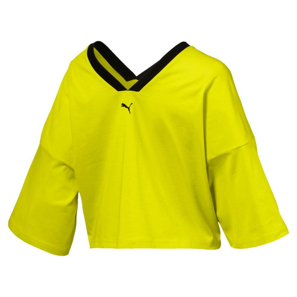 Imagen PUMA Top de diseño recortado con cuello en V Xtreme para mujer #2