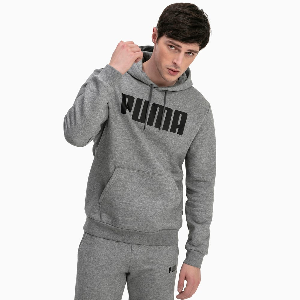Изображение Puma Толстовка Essentials Fleece Men's Hoodie #1: Medium Gray Heather