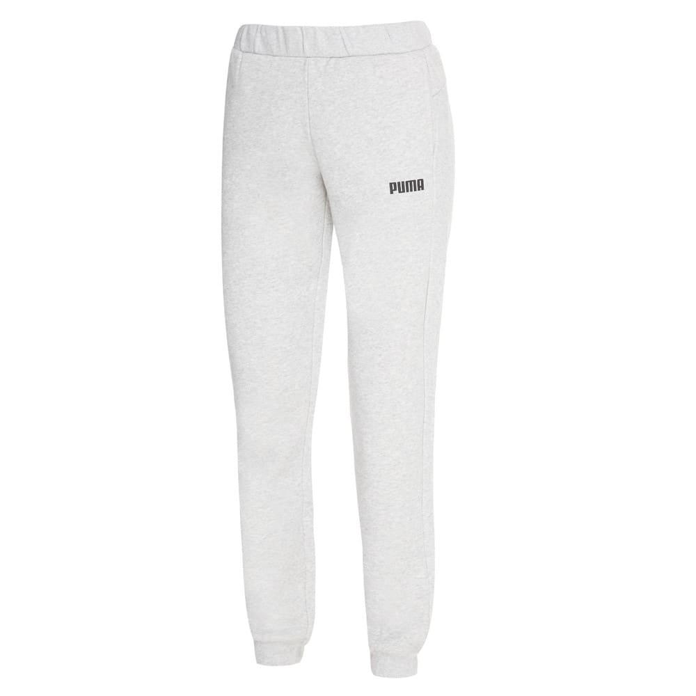 Изображение Puma Штаны Essentials Cuffed Fleece Girls' Sweatpants #1
