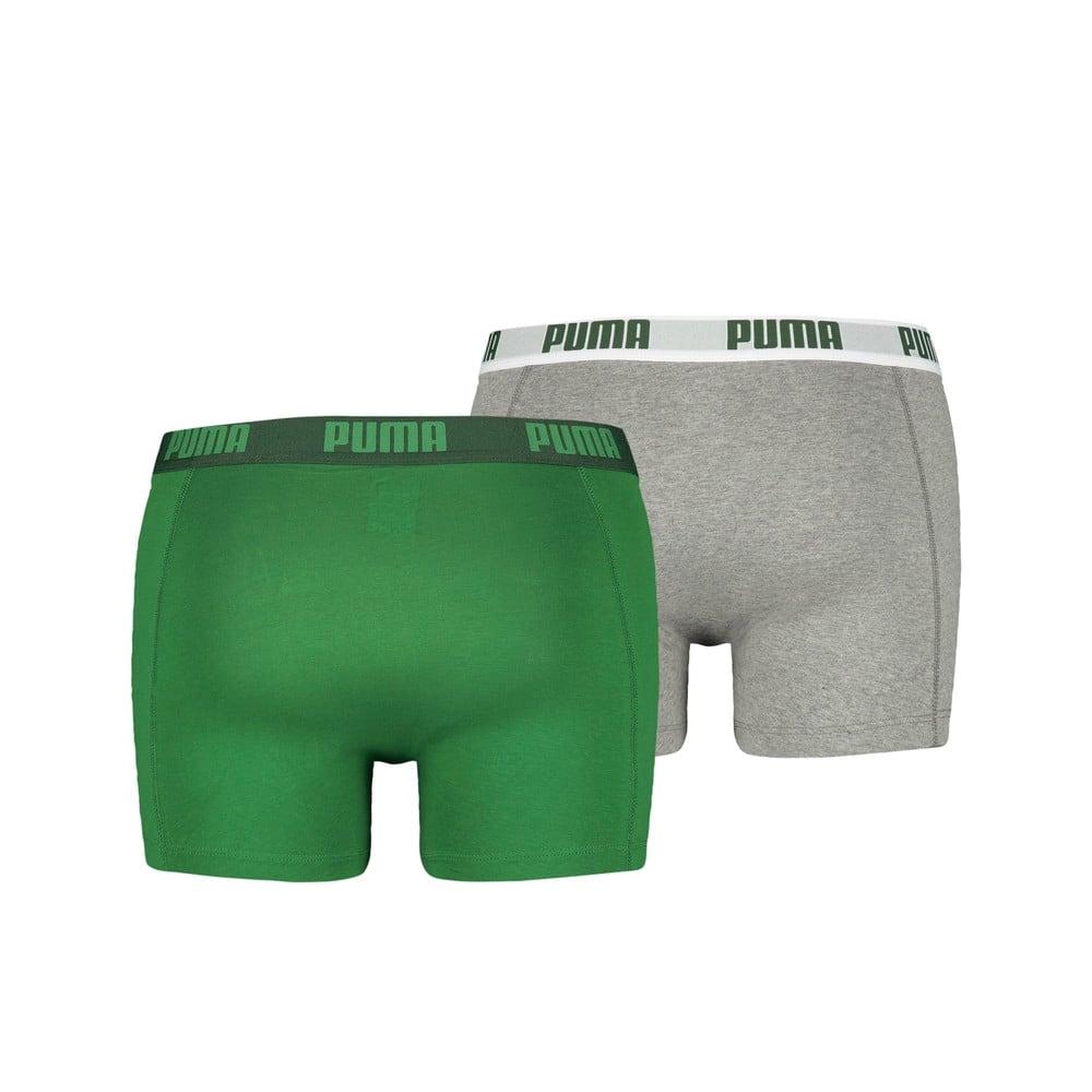 Зображення Puma Чоловіча спідня білизна Puma Basic Boxer 2P #2: Amazon Green