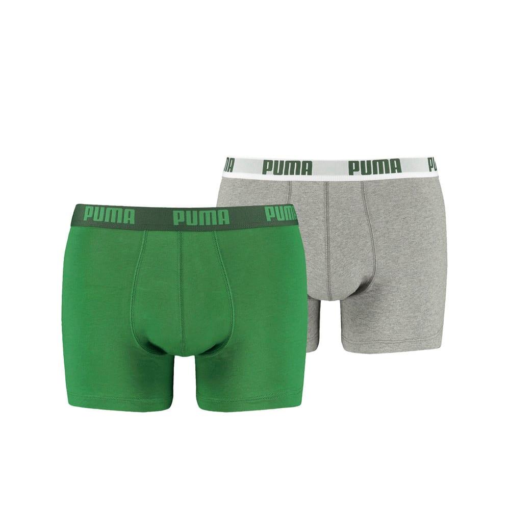 Зображення Puma Чоловіча спідня білизна Puma Basic Boxer 2P #1: Amazon Green