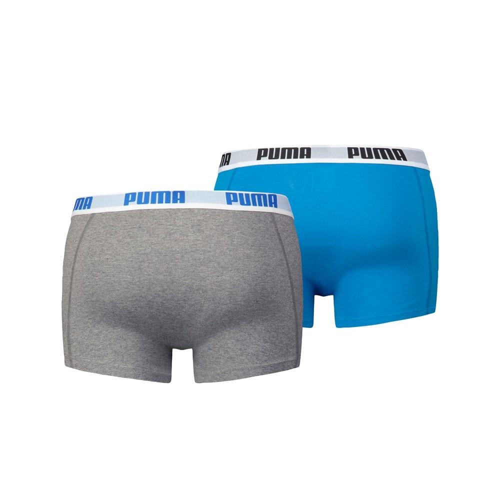 Изображение Puma Мужское нижнее белье 2 Pack Boxer Shorts #2: blue-grey